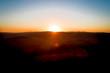 aerial drone flight, direction Vienna over the Vienna Woods at sunrise, Königstetten, lower Austria, Wienerwald