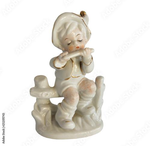 Fotografie, Obraz  Porcelain figurine of a boy