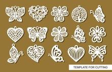 Set Of Decorative Pendants. De...