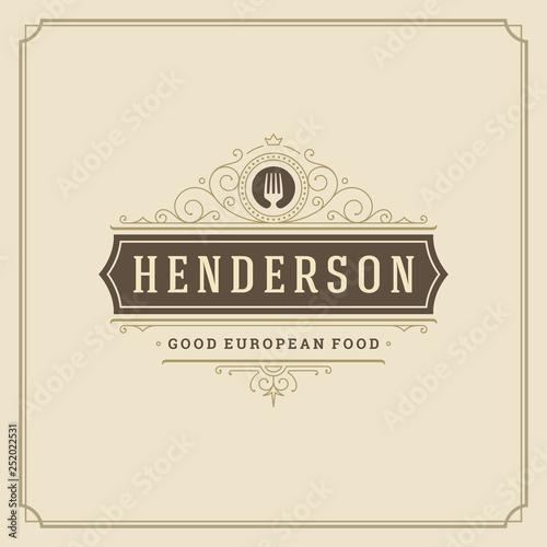Fototapety, obrazy: Restaurant logo template vector illustration good for restaurant menu