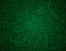 Green Patricks Day Background ...