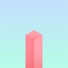 Simple Vertical Cuboid With Minimal Background Design. Minimalist Abstract Geometric Vector Illustration.
