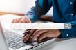 Leinwandbild Motiv Searching browsing internet data information networking concept, Business team meeting background.