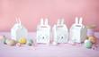 canvas print picture - Kleine Geschenkschachteln mit Ostereiern