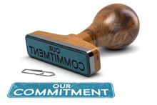 Our Commitment, Rubber Stamp T...