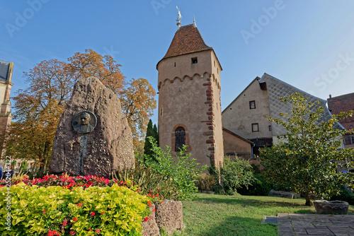 Fotografía  Tour d'enceinte, Obernai, Bas-Rhin, Alsace, Grand Est, France