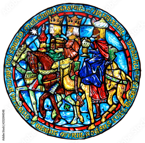 Canvas Print Stained Glass Gifts of the Magi