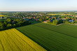 Luftaufnahme der Landschaft in Deutschland