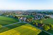 canvas print picture - Luftaufnahme der Landschaft in Deutschland