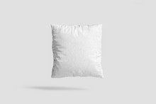Blank Pillow Case Design Mock-up With Clipping Path. Clear Pillowslip Cover Mock Up Template. 3D Rendering.