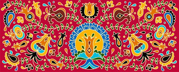 FototapetaVector hand drawn National crimean tatar pattern illustration