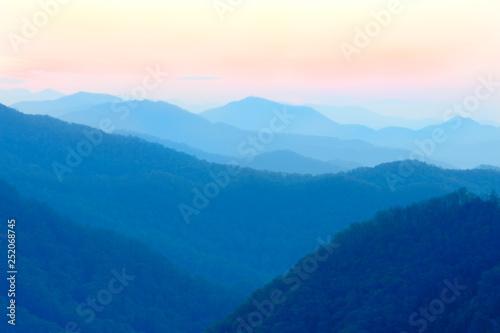Misty Blue Mountains