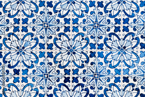 Photo Vintage azulejos, traditional Portuguese tiles.
