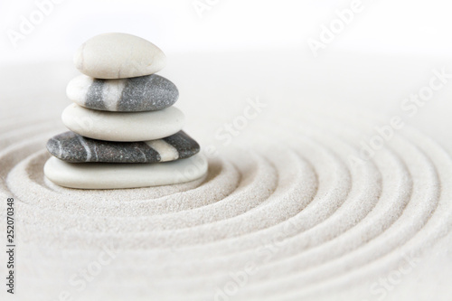 Spoed Foto op Canvas Stenen in het Zand Zen japanese garden background