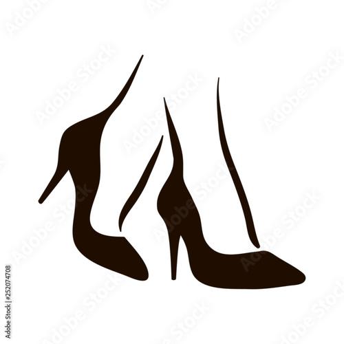 Photo  Vector woman feet in high heels icon illustration