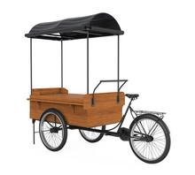 Bike Food Cart Isolated