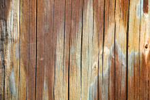 Detail Of A Colorful Old Woode...