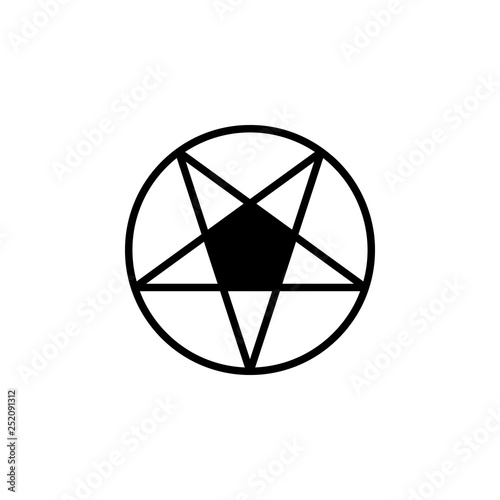 Photo  Pentagram icon vector