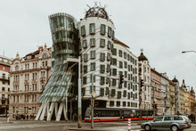 Exterior Of The Dancing House From Prague - Czech Republic