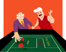 Senior Couple Shooting Craps I...