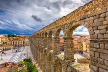 Segovia, Spain At The Ancient Roman Aqueduct