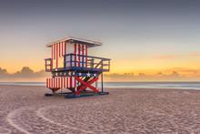 Miami Beach, Florida, USA Sunr...
