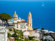 Italy, Campania, Amalfi Coast, Sorrento Peninsula, Praiano, Parrocchia Di San Gennaro Church