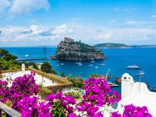 Italy, Campania, Naples, Gulf Of Naples, Ischia Island, Aragonese Castle On Rock Island