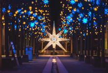 Germany, Berlin, Christmas Decoration, Moravian Star