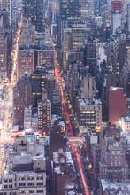 USA, New York, Manhattan At Night