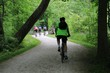 Bicycle riders on a recreational trail in the nature park
