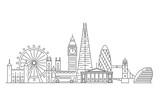 Fototapeta Londyn - London city skyline.