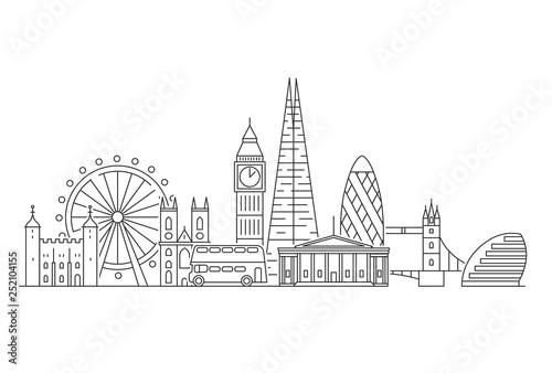 London city skyline. Fototapeta
