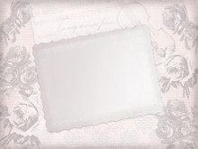 Faded Pink Paper Sheet With Sk...