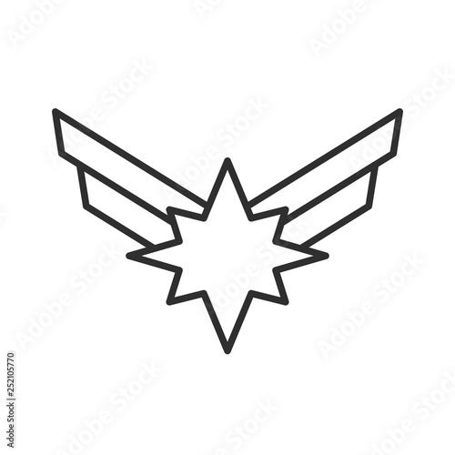 Star with wings. Wallpaper Mural