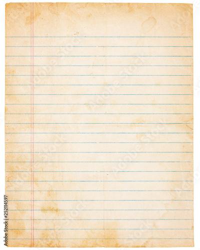 Fototapeta  Aging Vintage Lined Paper