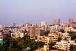 mumbai skyline view or arial view of mumbai city