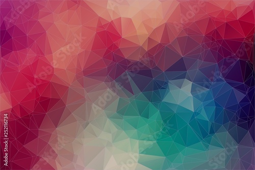 Abstract 2D geometric multicolor background Vector EPS 10