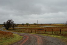 Red Dirt Road On A Stormy Day