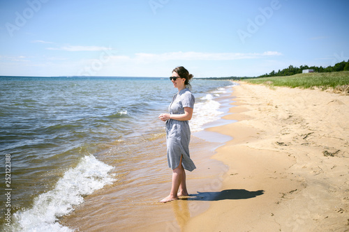 b59a1f65b Young Hipster Woman Enjoying the Summer Ocean Breeze 01 - Buy this ...