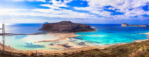 amazing scenery of Greece - Balos bay in Crete island