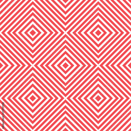 Fotografía  Linear rhombus geometric seamless pattern. Vector illustration.