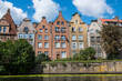 Poland, Gdansk, Hanseatic League houses on the Motlawa river