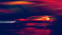 Futuristic Racing Sports Car I...