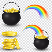 Cauldron Full Of Gold Coins An...