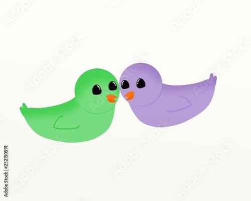 Lovebirds Canvas-taulu