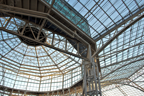 Aluminium Prints Train Station glass roof and structure
