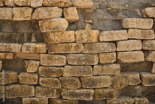 Ancient tone block wall  For design, banner and layout - Buy