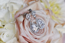 Earrings On A Rose