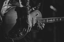 Unrecognizable Guitarist In Concert
